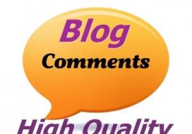 High Quality 100 Do-Follow Blog comment backlinks