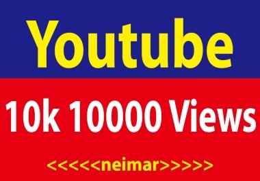 10000 YouTube Vi ews High Retention Lifetime Guaranteed