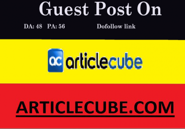 Publish guest post on Articlecube with dofollow link