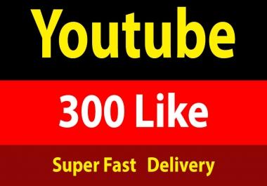 Instant 300+ YouTube Li/ke Fully Safe 1 Hours Delivery
