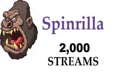 2,000 streams for Mixtape spinrilla