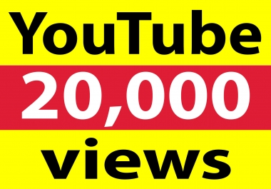 Fast delivery 20,000+ YT views high retention & non drop within 12-48 hours