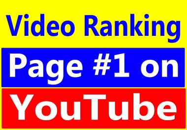 Boost Your Video Ranking Page 1 On You-Tube Within 3 Weeks