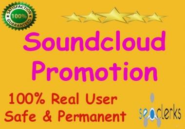 25k USA soundcloud plays 100 soundcloud likes 100 repost 10 comments