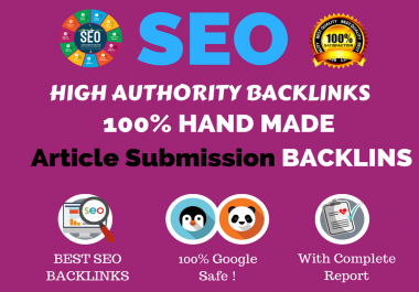 Build 100 Percent Manual Article Submission Backlinks