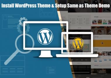 Install WordPress Theme and Setup Like Theme Demo