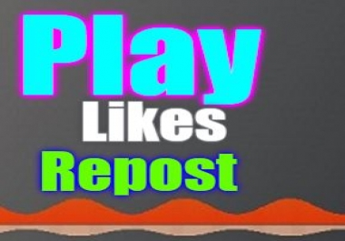 1500 Play,10 like,repost and 3 Comments