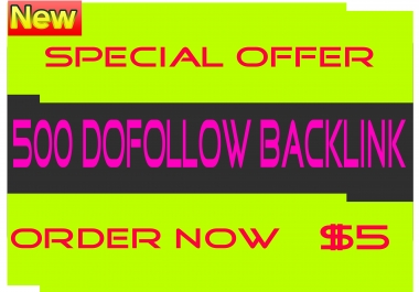Create 500+ Dofollow Backlink Improve Your Site Rank