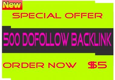 Create 500 Dofollow Backlink Improve Your Site Rank