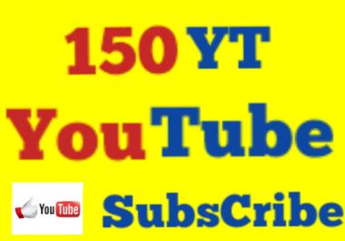 150 Non Drop High Quality Youtube Subs cribers Guaranteed