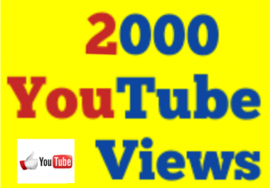 Fastest 1000-2000 High Quality You Tube Vi e ws Ultra fast Speed