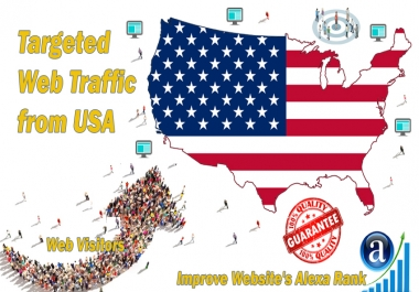 Send 25.000 USA web visitors real targeted geo traffic