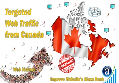 Send 25000 Canada web visitors real targeted geo traffic