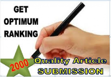 2000 Article directories backlinks Fast in