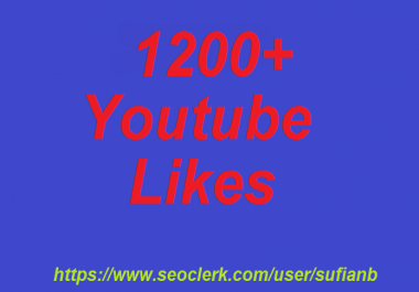 offer 12000+ YouTube Likes non drop 12-24 hours in complete