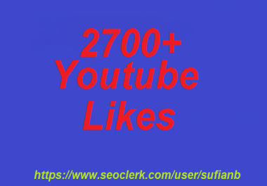 offer 500+ YouTube Likes non drop 12-24 hours in complete