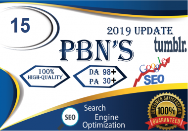 Build 15 PBN Permanent Backlinks High quality On DA 98 PA 30+ Tumblr to Improve SEO Boost Google