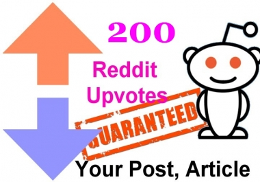200 reddit upvotes to your reddit post or links or articles within 12 Hours