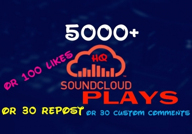 Add 5000+ Worldwide Super fast HQ Sound Cloud Service instantly