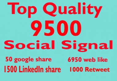 High PR 9500 Social Signals with super fast speed