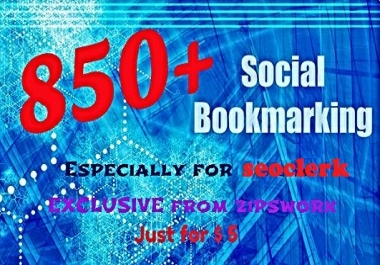 Do 850 Powerful Social Bookmarind links To Your Site