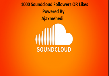 Get 1000 Instant soundcloud service with 12 hours