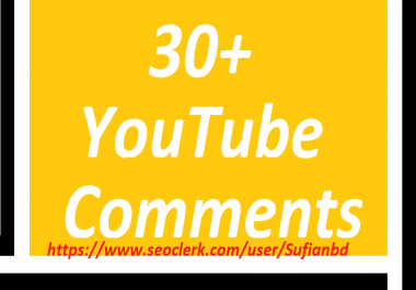Happy new year offer 30 YouTube Custom Comments super fast delivery