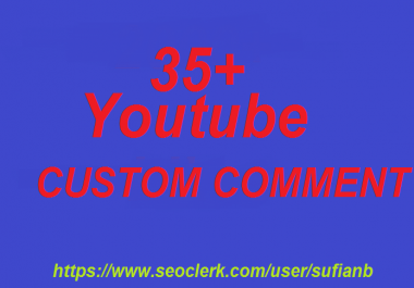 Happy new year offer 35 YouTube Custom Comments super fast delivery