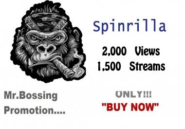 2k views + 1,500 streams only for spinrilla mixtape