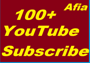 100+ Youtube Subscribers non drop Instant start