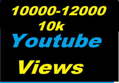 10000-12000 High Quality YouTube Views Non Drop Fully safe Instant Start