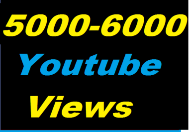 Guaranteed 5000-6000 Youtube Non Drop Views Give you in 20-24 Hours