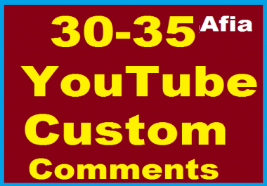 30-35 YouYube Custom Comment Human profile pictures or 100+ Non Drop Youtube Subscribers
