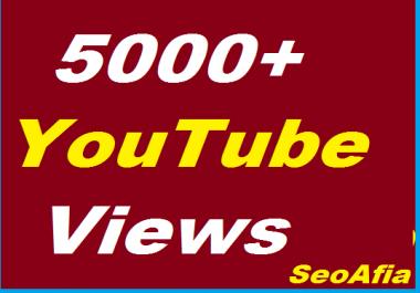 Safe 5000+ YouTube Non Drop Vi`ews Give You
