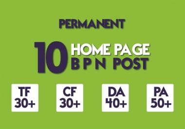 Create 10 Manual HIGH TF CF 20+ DA 35+ PA 45+ Dofollow PBN Backlinks