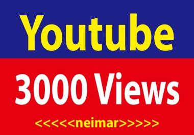 3000 Youtube High Retention Vi ews Non Drop Lifetime Guaranteed Super Fast