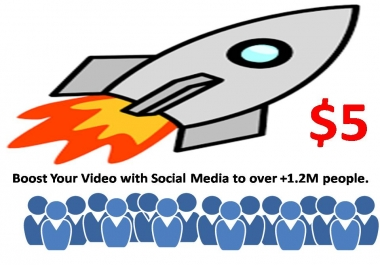 Boost Your Video with Social Media to over +1.2M people.