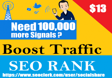 Top 5 Social Platform 100,000 Permanent Social Signals For Affiliate Marketing & Business Promotion Help To Increase SEO Website Traffic & Share Bookmarks Important Google Ranking Factors
