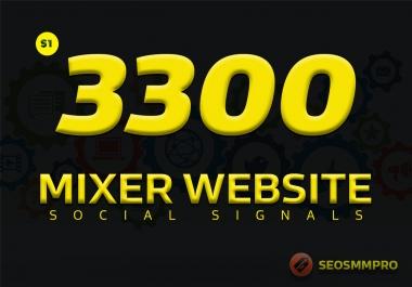 Do 3300 Custom Social Signals SEO Backlinks For Buyers/Clients Websites