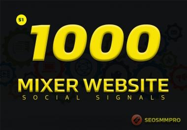 Do 1000 Custom Social Signals SEO Backlinks For Buyers/Clients Websites