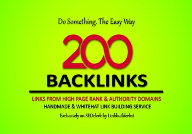 Done For You - Up To 200 PR9-5 Authority Backlinks