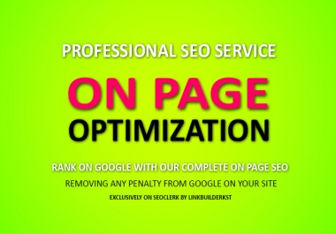 Professional On Site SEO For Your Website Or Blog
