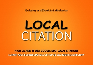Handmade 30 Google Map USA Authority Local Citations