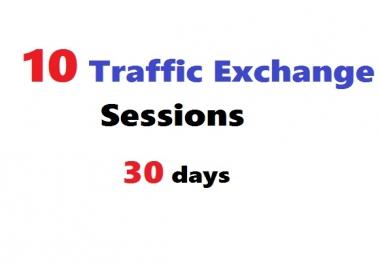Run 10 traffic exchange sessions Hitleap