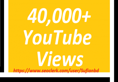 Happy new year offer 40,000+You Tube Likes super fast delivery