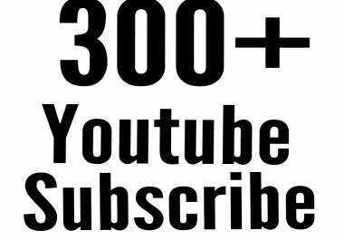 300+ Never Drop Active You tube Subs cribe delivery within 1-6hour