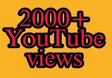 Safe 2000+ You Tube Vie ws nondrop instant work