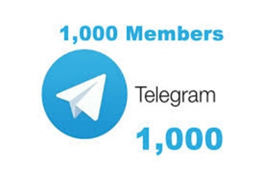 I will add Real Human 1000+ Telegram Members