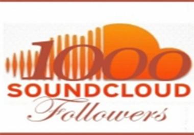 Guaranteed Non Drop 1,000+ Real Soundcloud Followers or Likes