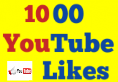 Super fast 1000+Youtube Real Likes 12-24 Hours